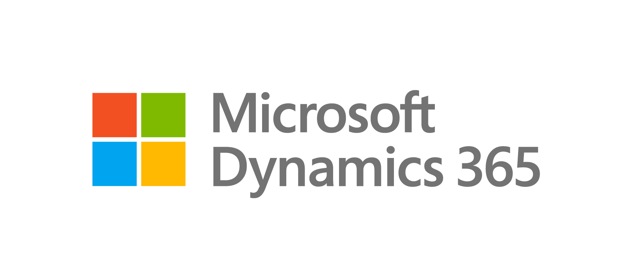 Microsoft Dynamics Stacked Logo with grey text