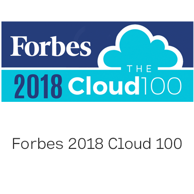 Forbes 2018 Cloud 100 logo