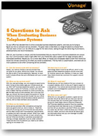 6 questions to ask when evaluating business telephone systems
