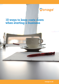 10 ways to keep costs down when starting a business.