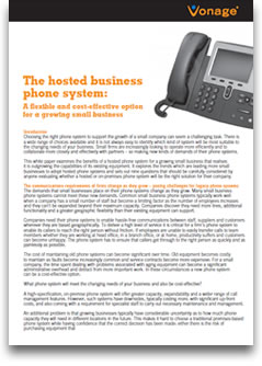 A hosted business phone system